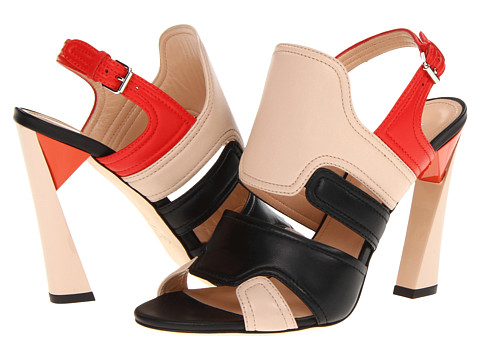 70% OFF - $298.50!!!    Love the panels and the dark, deep colors together. And of course the arched effect heel! Yes!