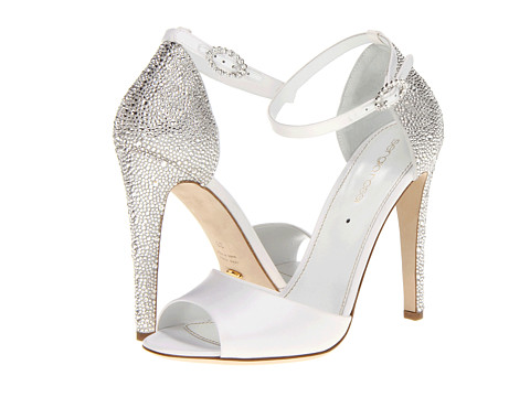 """Simple bling. #weddingshoes   Secure √ ::  Material √ :: 4.5"""" instep"""