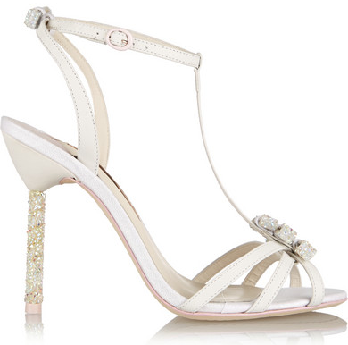 """Such a fabulous heel with dainty details! Try these on though, because you don't want your pinky toe sticking out! (Remember I vented about that on this blog post ). #weddingshoes   Secure √ ::  Material √  ::  4"""" instep"""