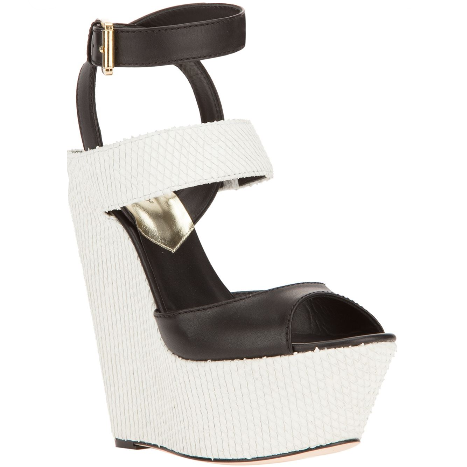 Black and white and black and white and goodness of a wedge!