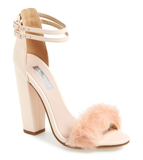 TopShop Faux Rabbit Fur Sandal, boudoir fanciness. Love!