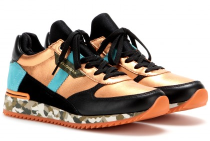 DOLCE & GABBANA Leather-blend sneakers