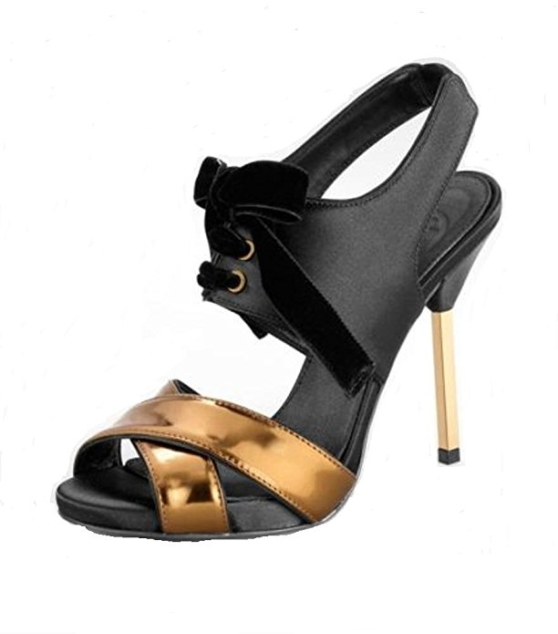 """Tory Burch """"Kyle"""" - $189.95  Ok so this heel isn't fully velvet, BUT that velvet shoe lace is the perfect amount to make this a gorgeous heel. How classy?? The gold stiletto heel is also a detail I adore. WIN x 2"""