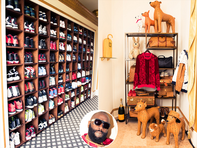 Rick Ross shoe closet