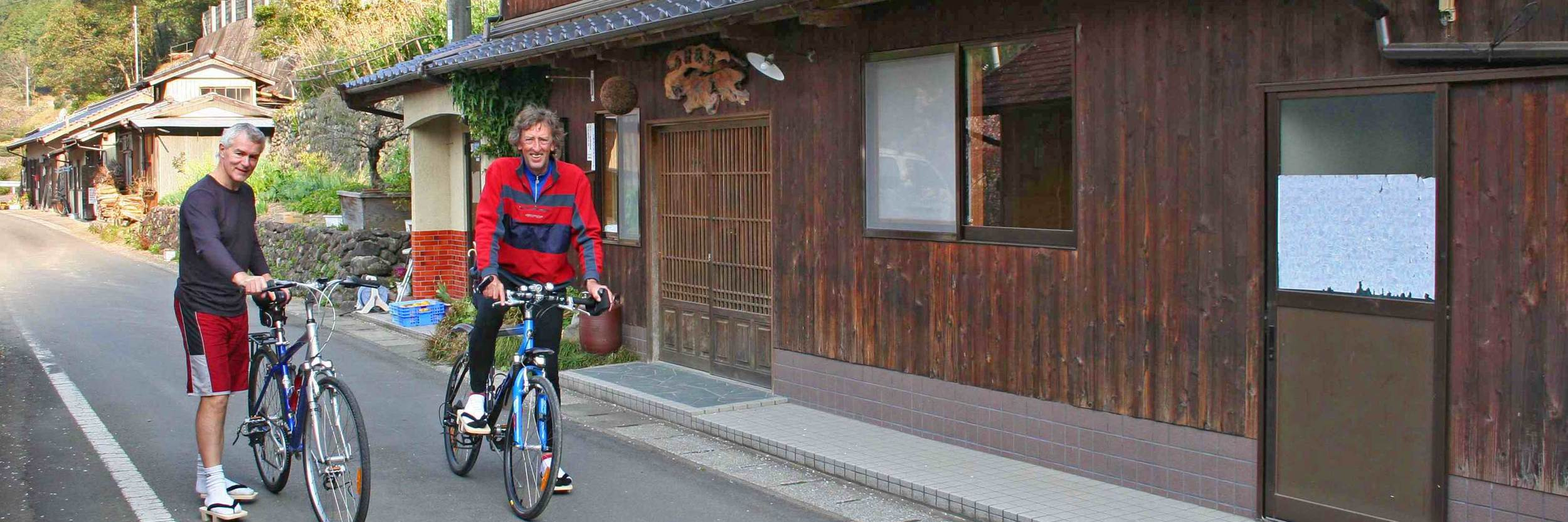 Cycle Shikoku old style inn and cycling shoes!