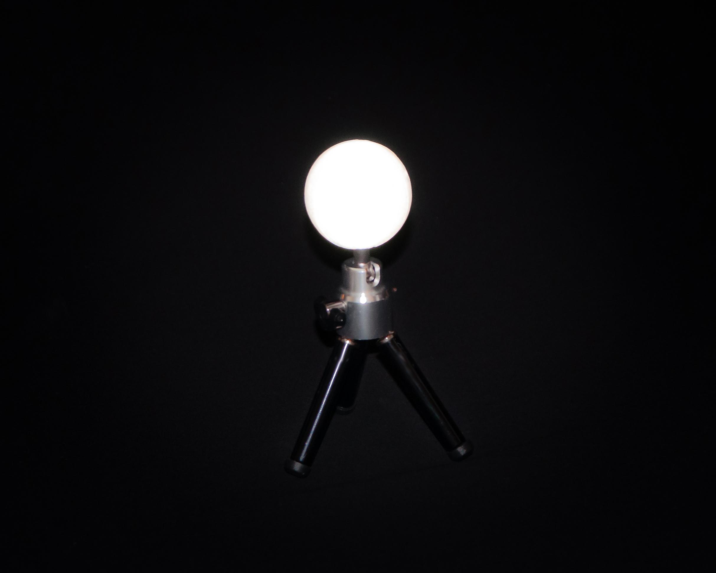 Retroreflective, spherical target for photogrammetry.