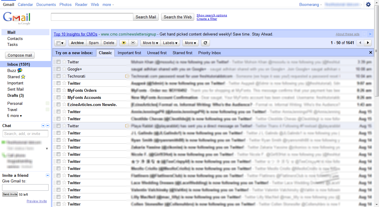 Classic Gmail on the Desktop