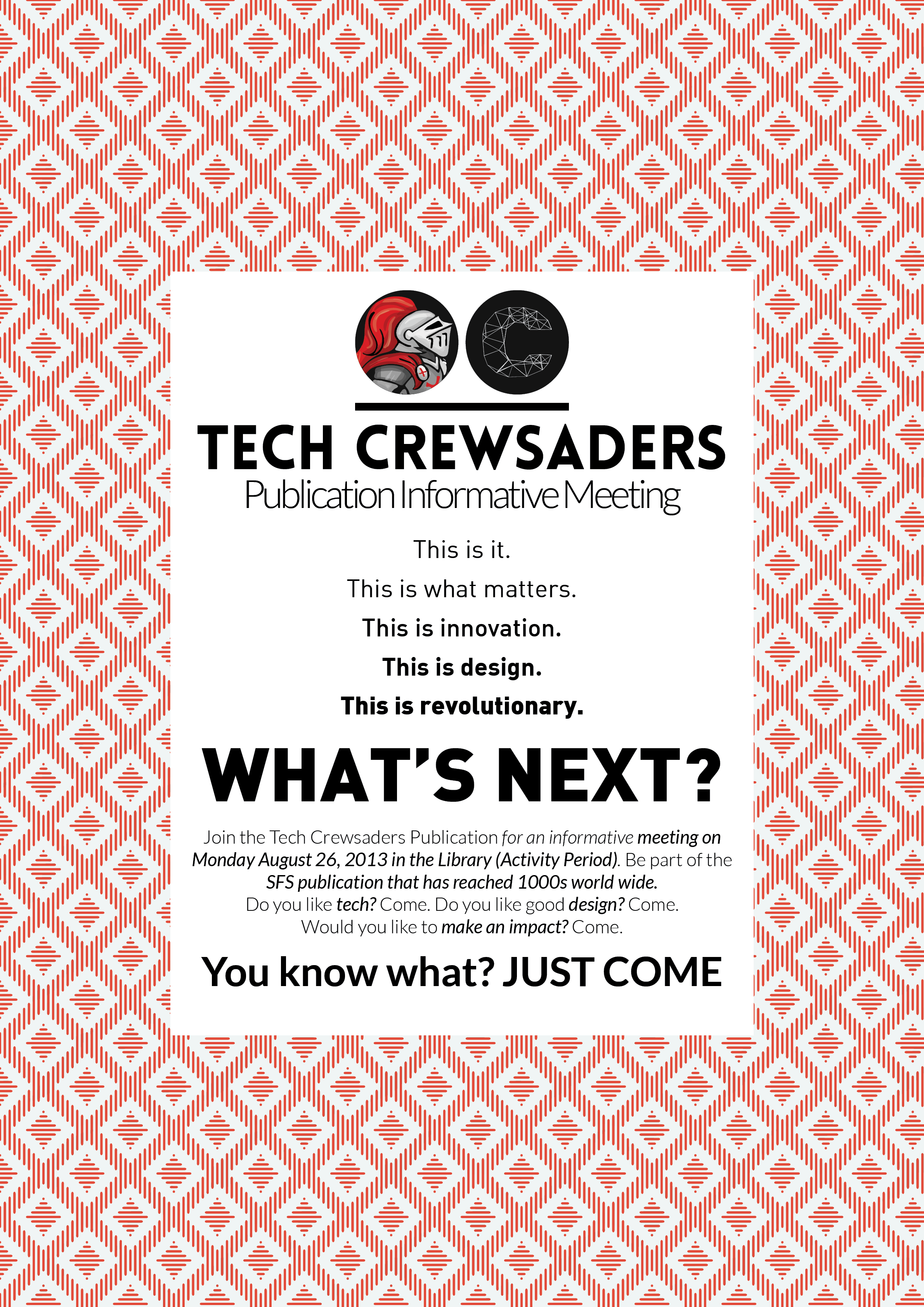 2013-2014 Recruitement Poster 1