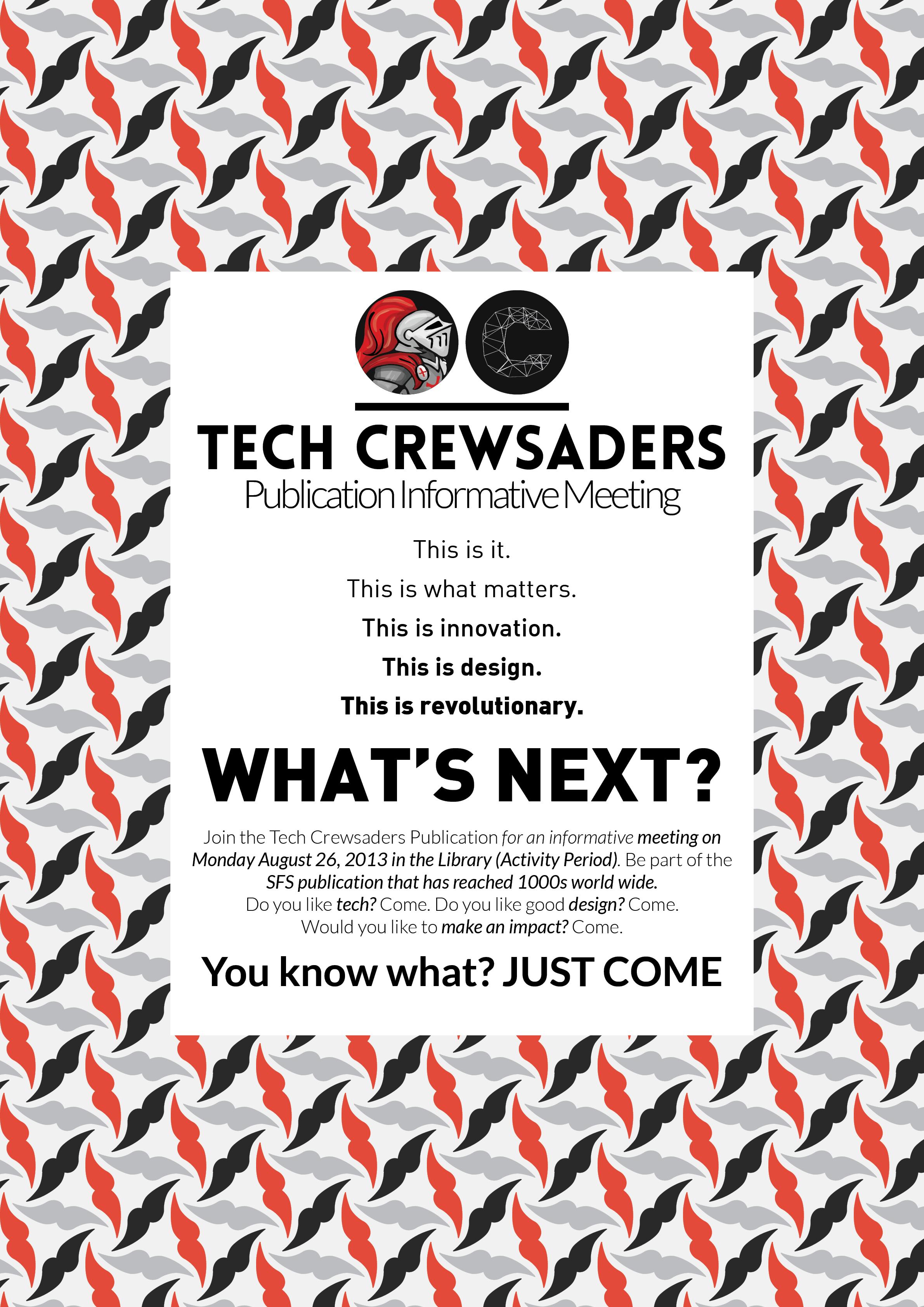 2013-2014 Recruitment Poster 2