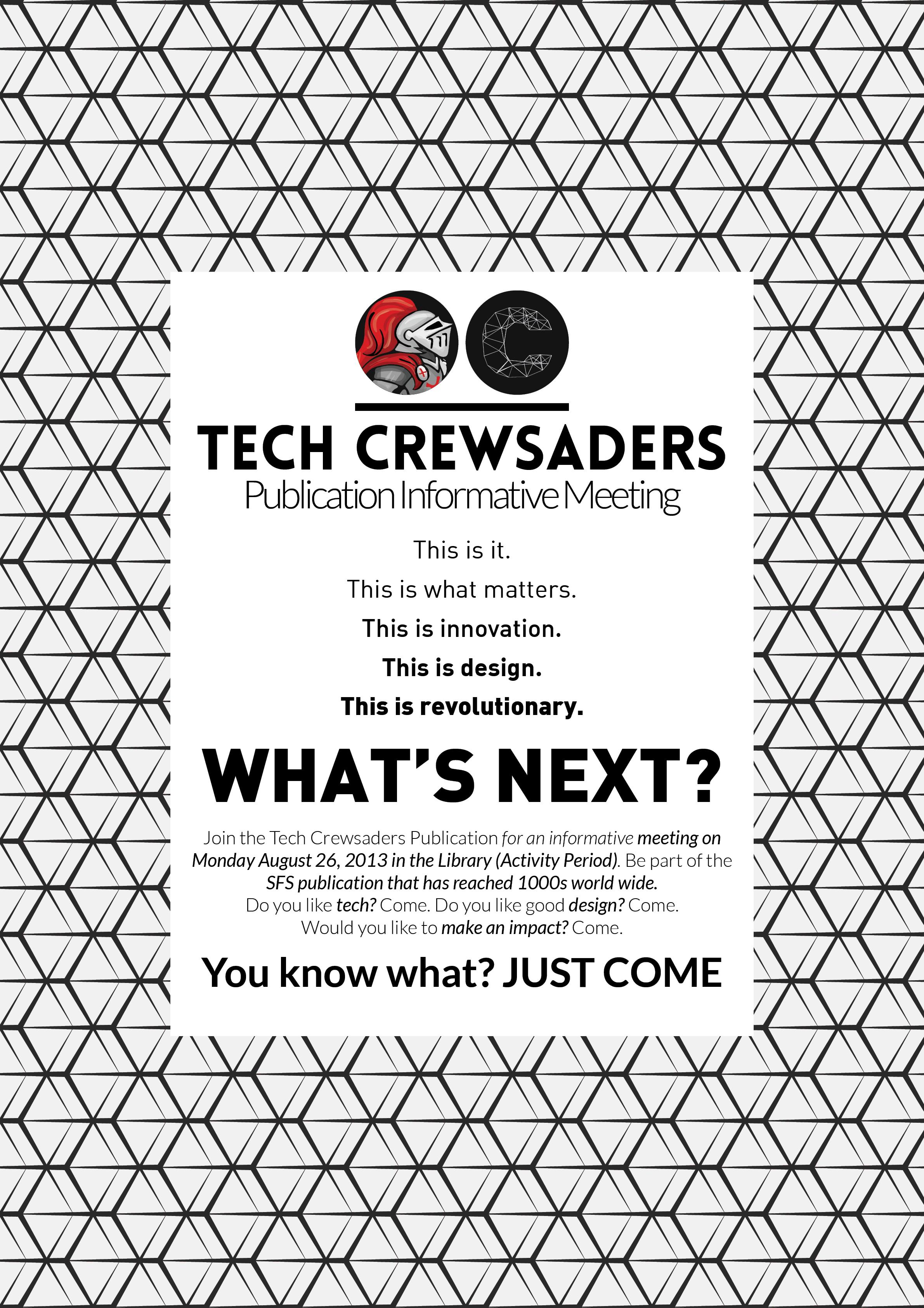 2013-2014 Recruitment Poster 3