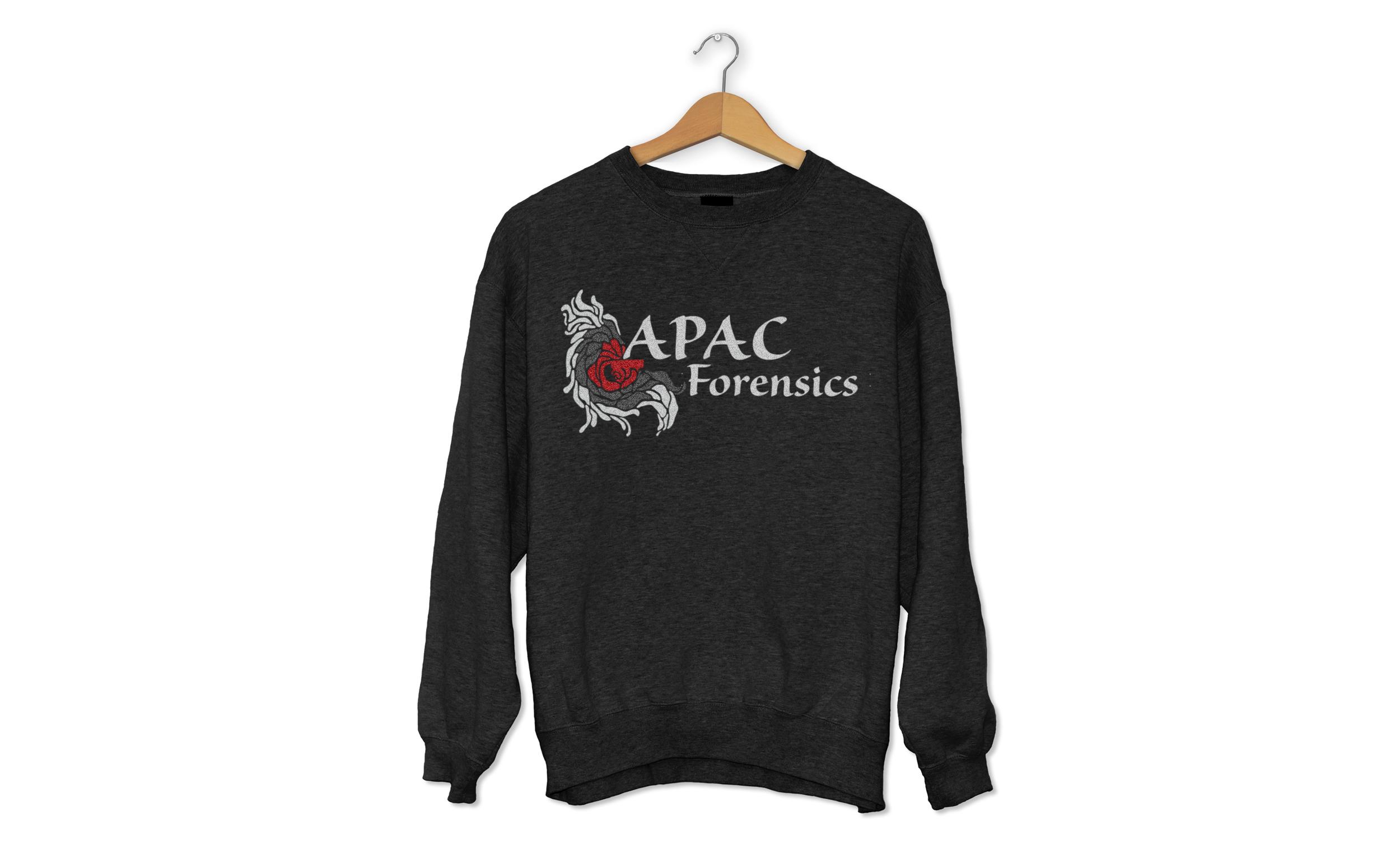 APAC Forensics Front Shirt Design