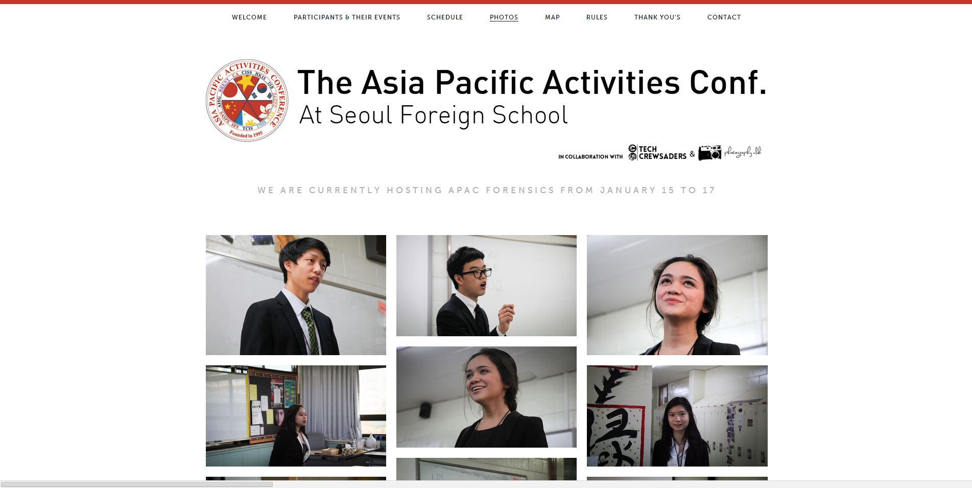 Seoul Foreign School APAC Website
