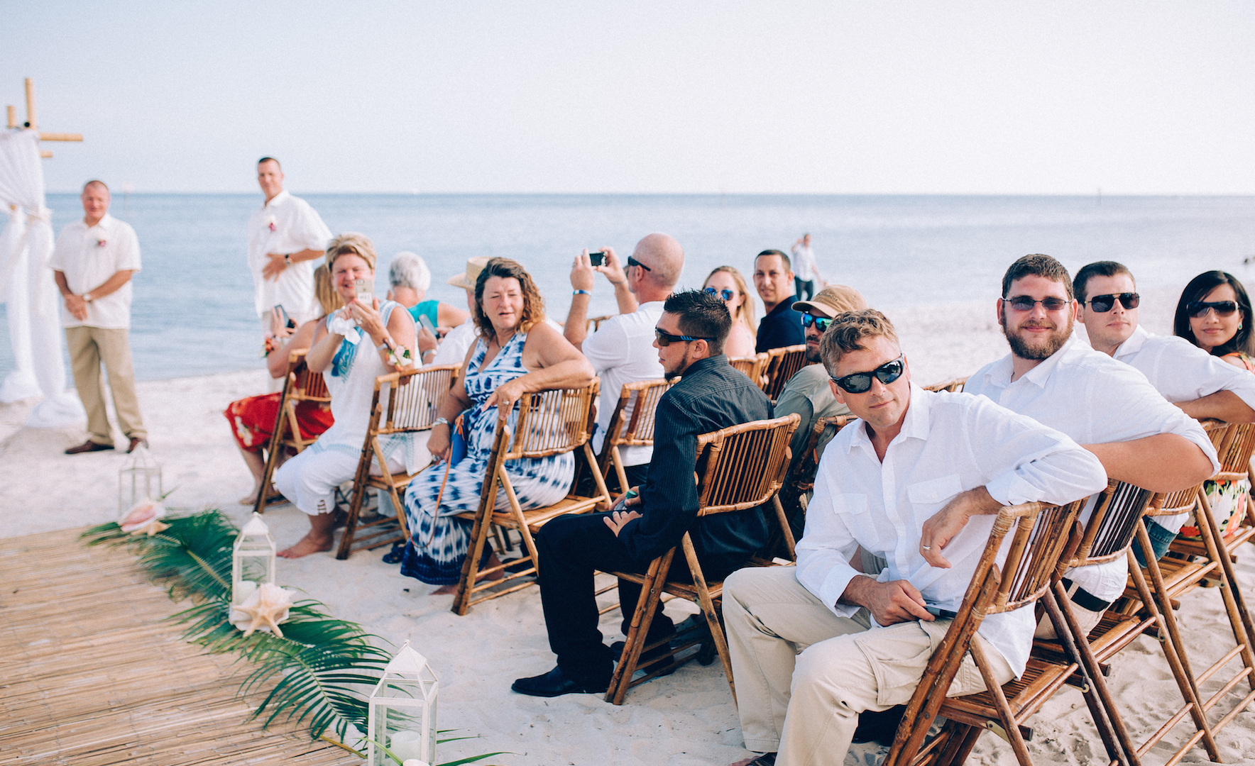 GUESTS READY FOR THE BRIDE . MIAMI WEDDING PHOTOGRAPHER