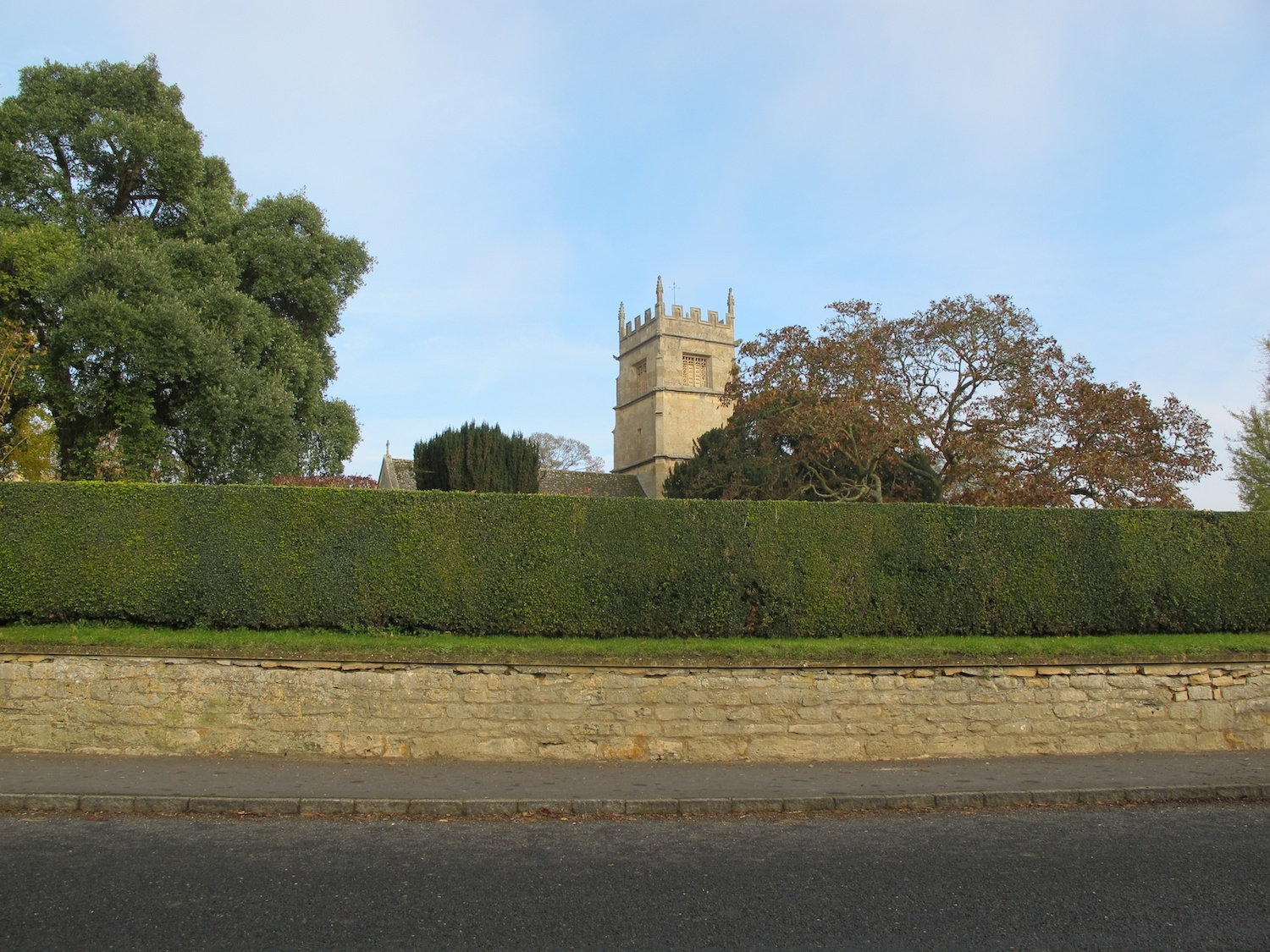 St Faiths Church Overbury in autumn