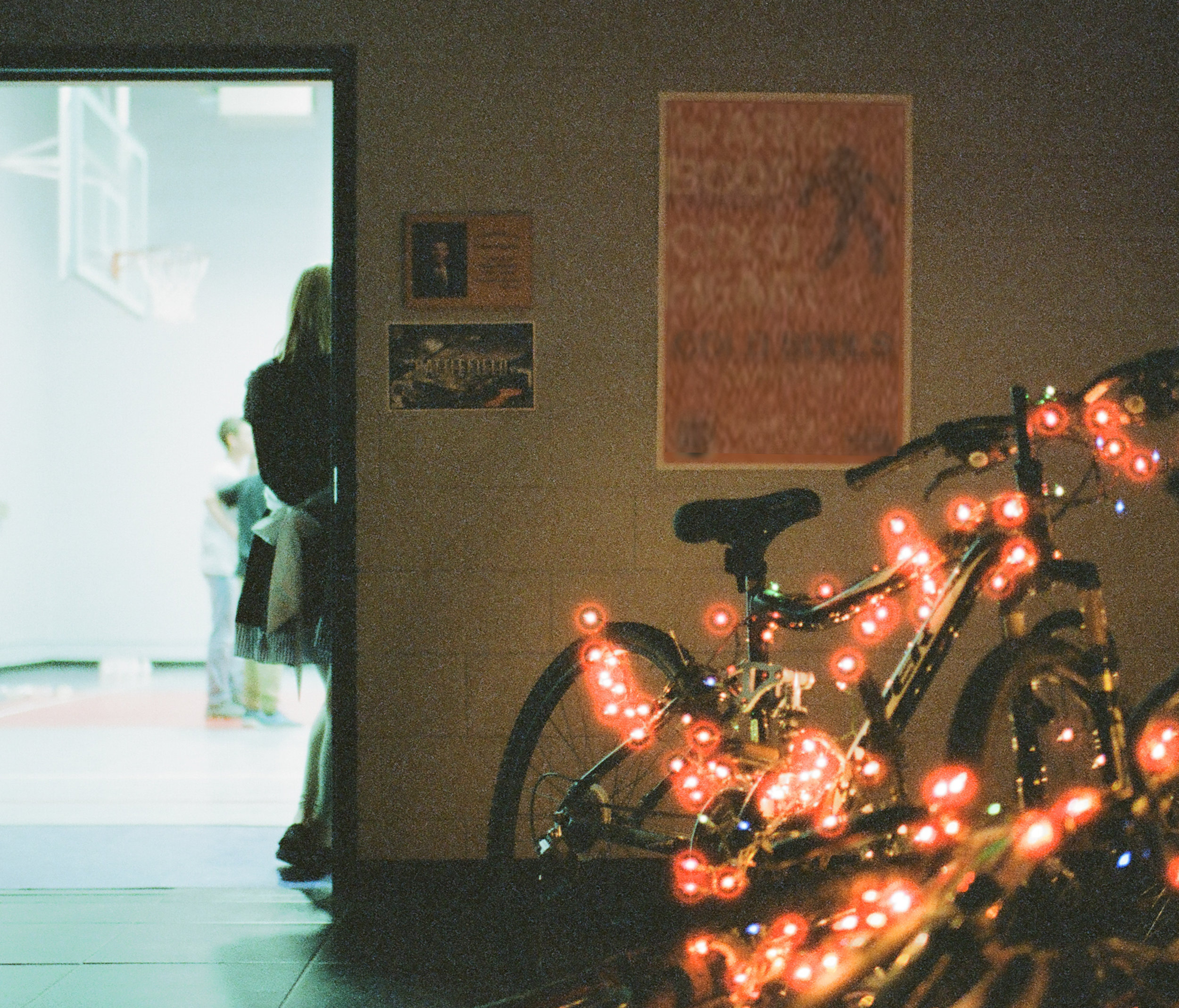 cinestill-halation-red-lights-bikes-gym