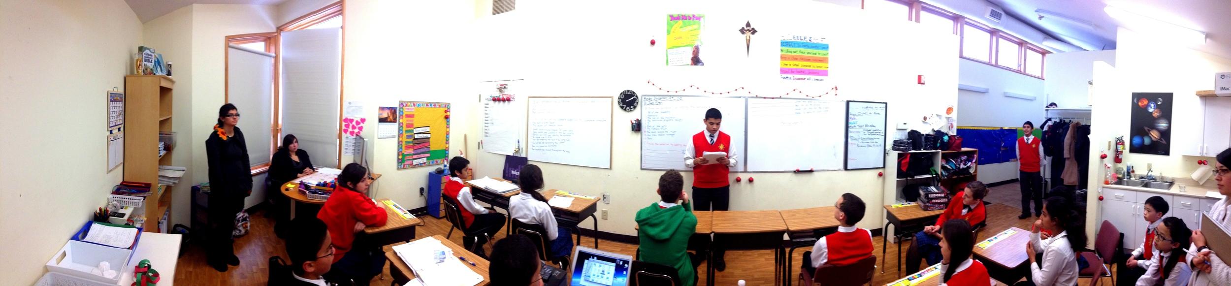 Grade 11s public speeches for  English literature.