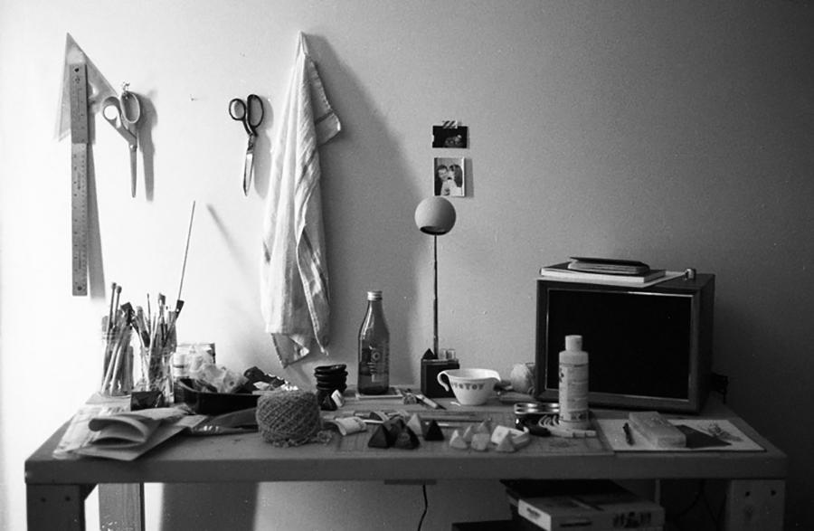 Desk of creative madness.