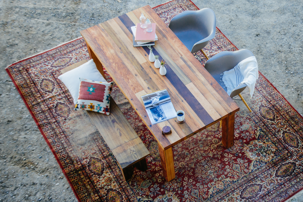 one of a kind custom reclaimed wood table photography by the skulls