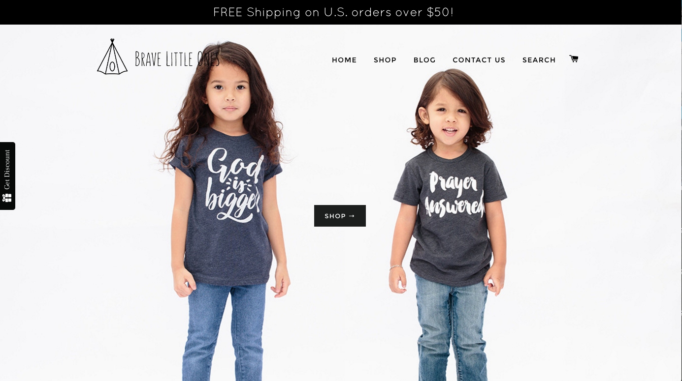 Kids fashion photography on white for Brave Little Ones | The Skulls Los Angeles