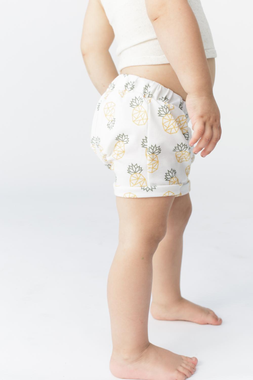 Geometric pineapple shorts by Odarling Handmade