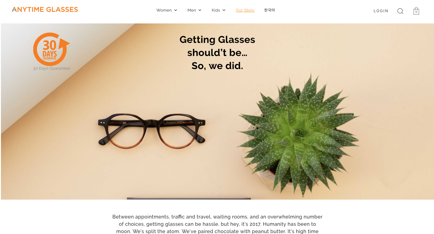Eyewear flatlay for Anytime Glasses by Ryan Pavlovich