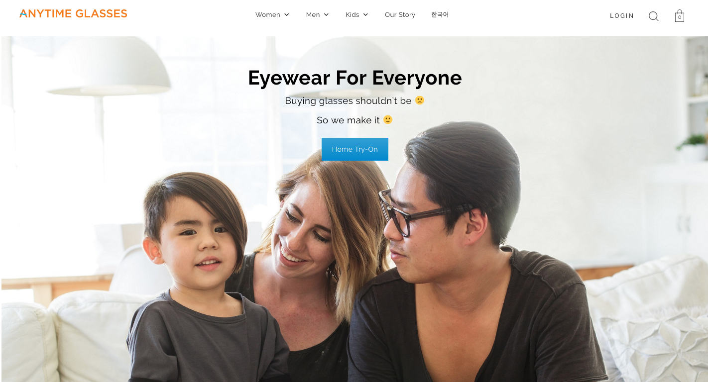Family banner ad for eyewear company by Ryan Pavlovich