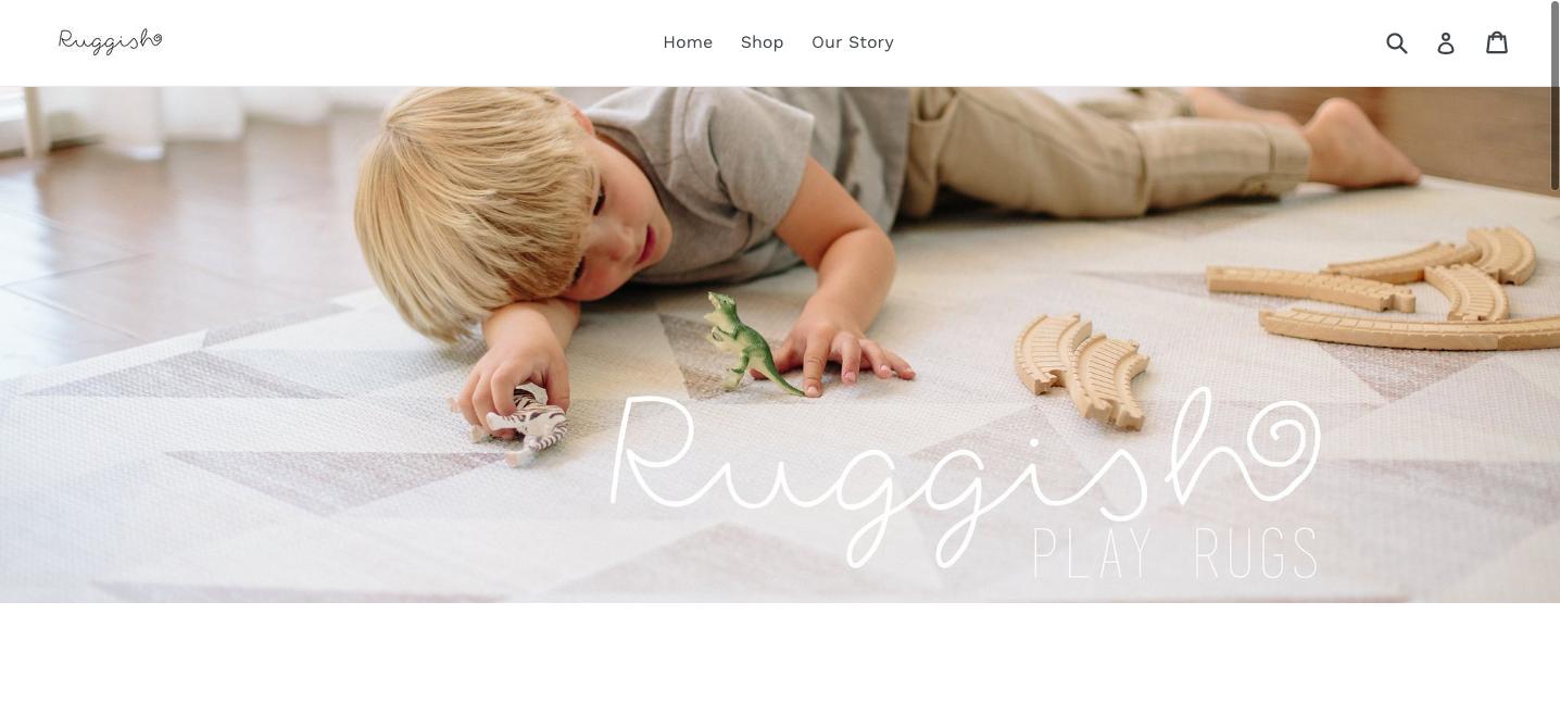boy playing on stylish playmat for kids - The Skulls