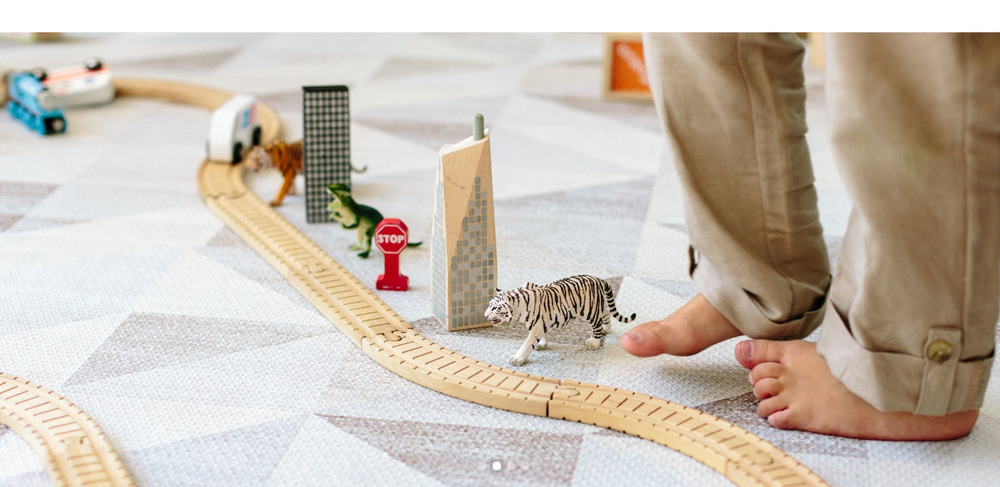 detail of play mat and toys for Ruggish Co.
