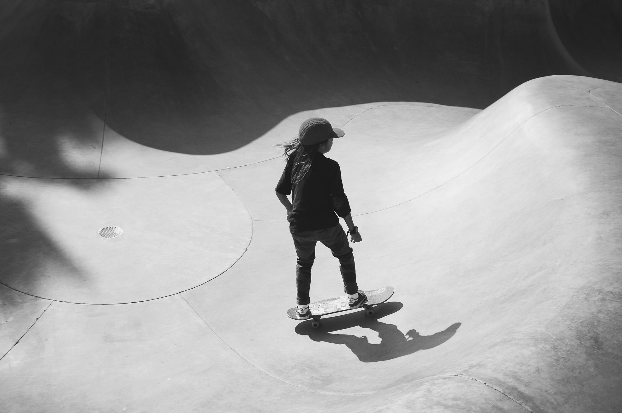 Skateboarder - Venice Beach Skatepark shot on Fuji x-100