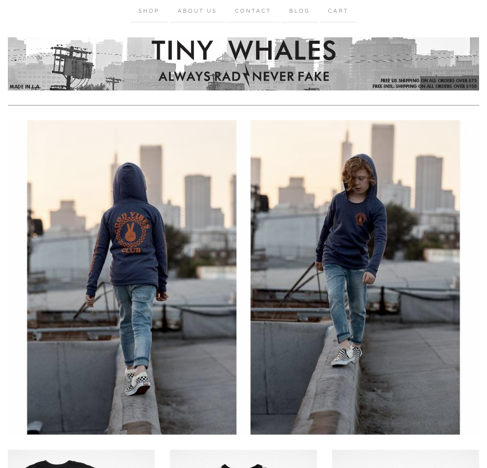 Kid in blue hoodie walks along a rooftop for Tiny Whales