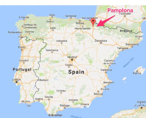 Pamplona, Spain on Google Maps