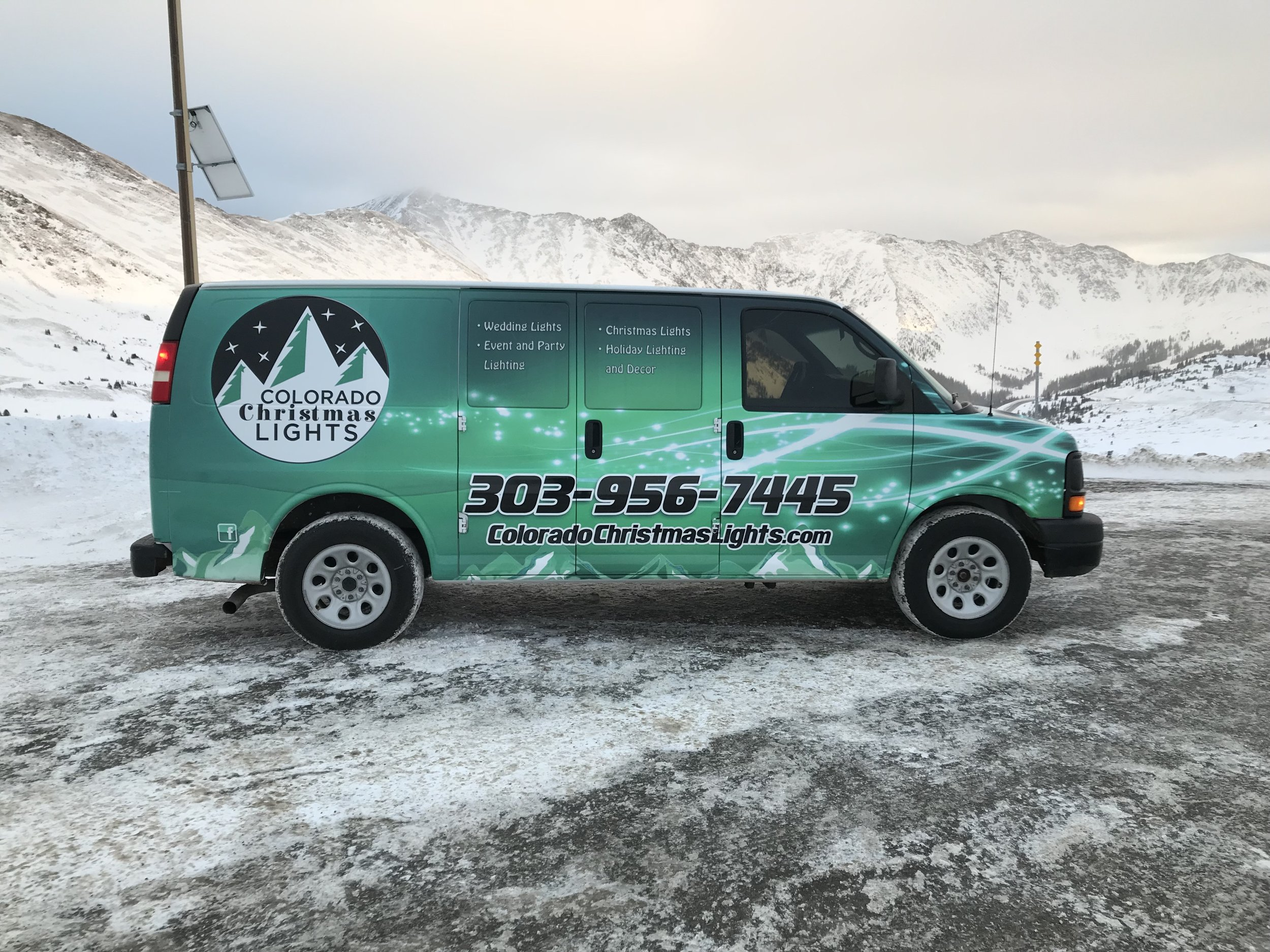 On our way to Summit County over Loveland Pass, Colorado with one of our (2) AWD Mountain Division Vans. We serve the mountain communities as well as the front range.