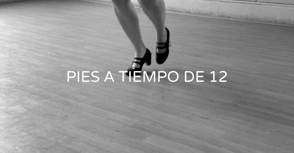 Pies a tiempo de 12 - Flamenco footwork exercise for 12 counts   flamencobites.com