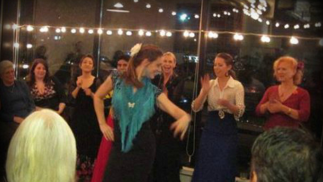This picture is of me dancing for the first time in front of friends and family with my Portland flamenco community. This night I was wearing all my new digs from Jerez. My nerves got the better of me that night because my in-laws were visiting from California.  I still don't think my in-laws know what flamenco is ; )