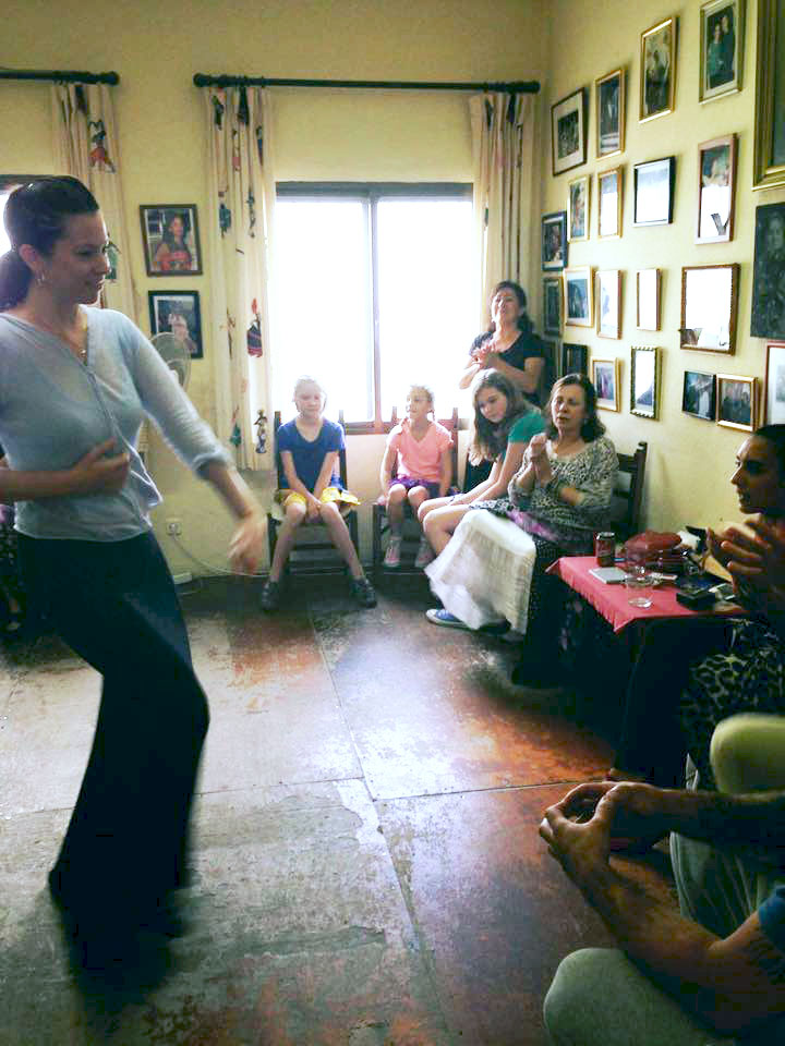 Laura dancing in Ani's class in Jerez
