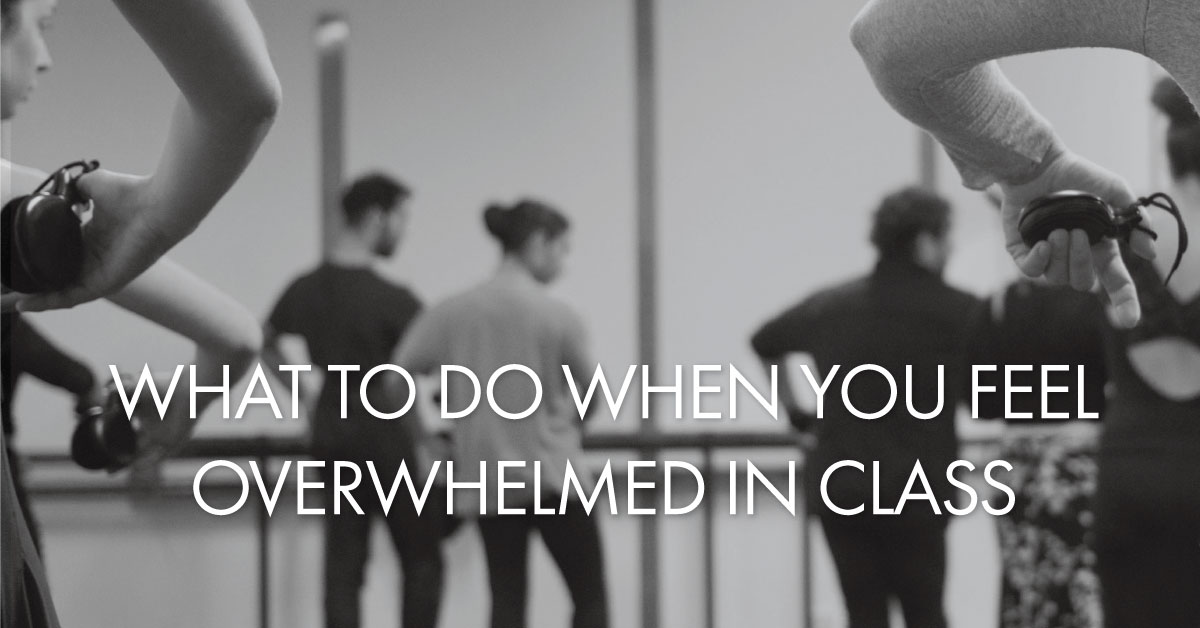 What to do when you feel overwhelmed in class | www.flamencobites.com
