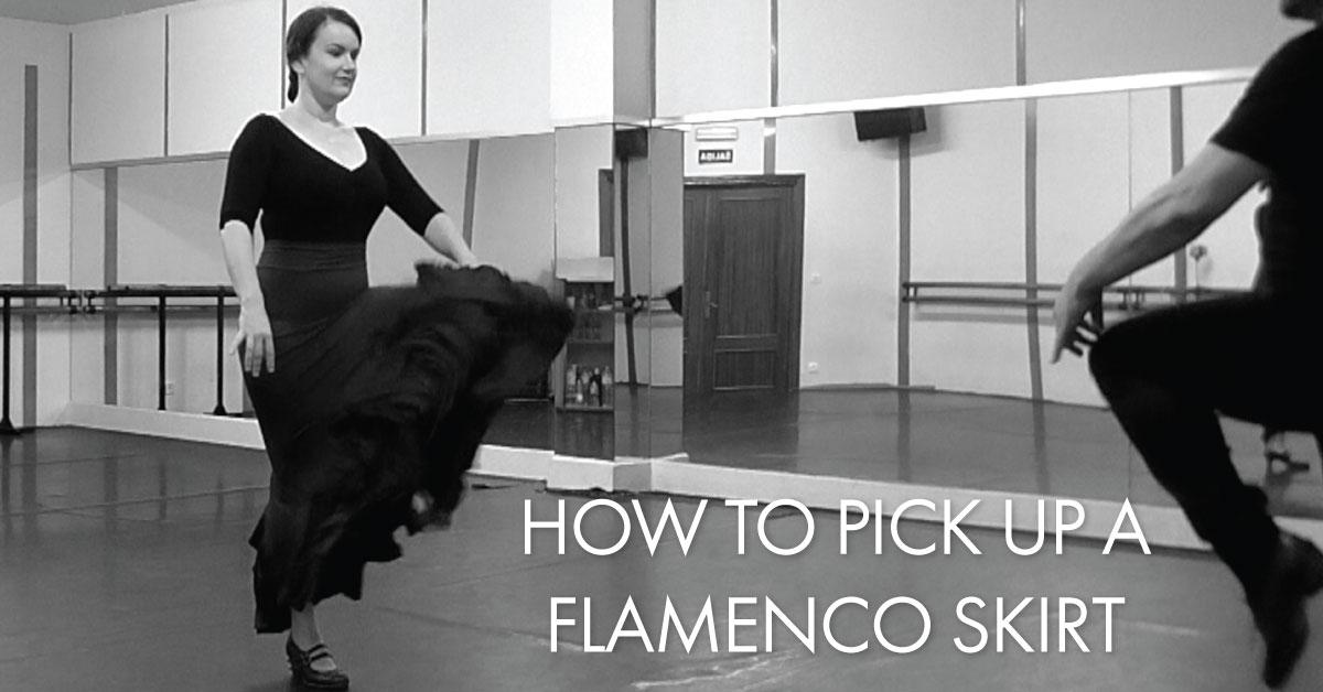 How to pick up a flamenco skirt | www.flamencobites.com