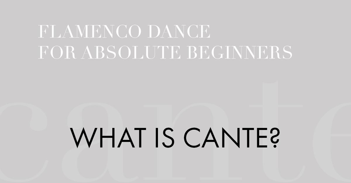 Flamenco music - what is cante? | www.flamencobites.com