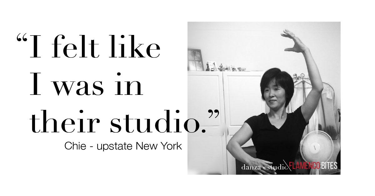 """I felt like I was in their studio"" - Chie, upstate New York | danza estudio Flamenco Bites"