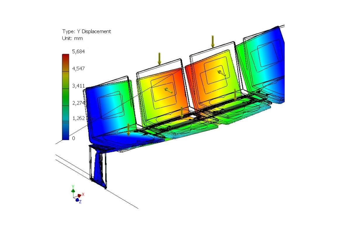 Finite Element Analysis (FEA)  GPD has made FEA to simulate and analysis the behavior of structures during different load scenarios, with regard to dimensioning, material selection and construction.