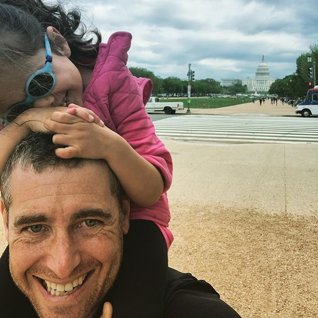 "Fun trip to DC last week. Leela enjoyed the Mall... especially the ""giant pencil"" (Washington Monument). #giantpaperneeded"