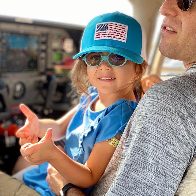 Junior pilot. Daddy's heart melts.