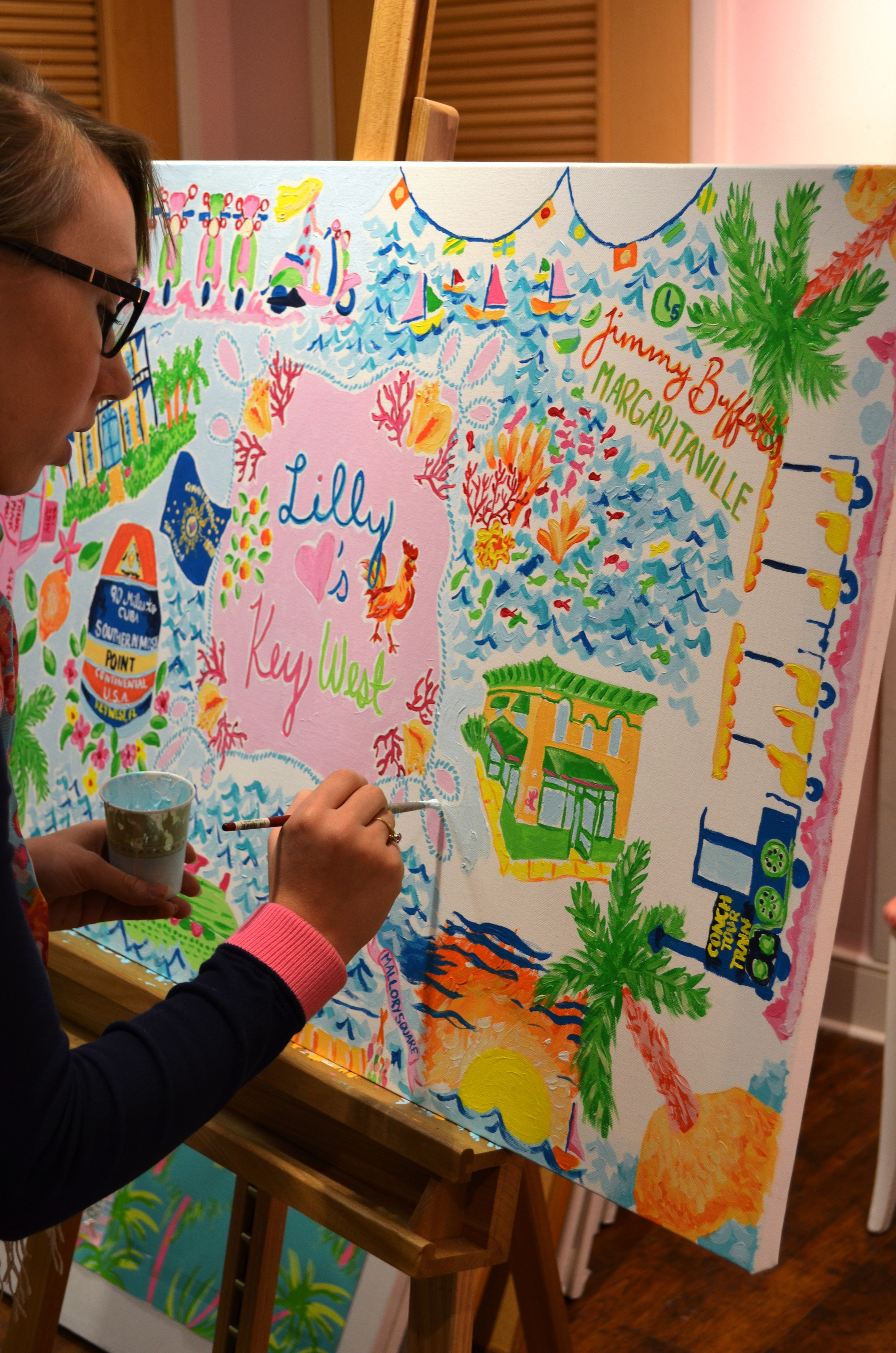 Lilly Pulitzer Key West Store Anniversary Painting