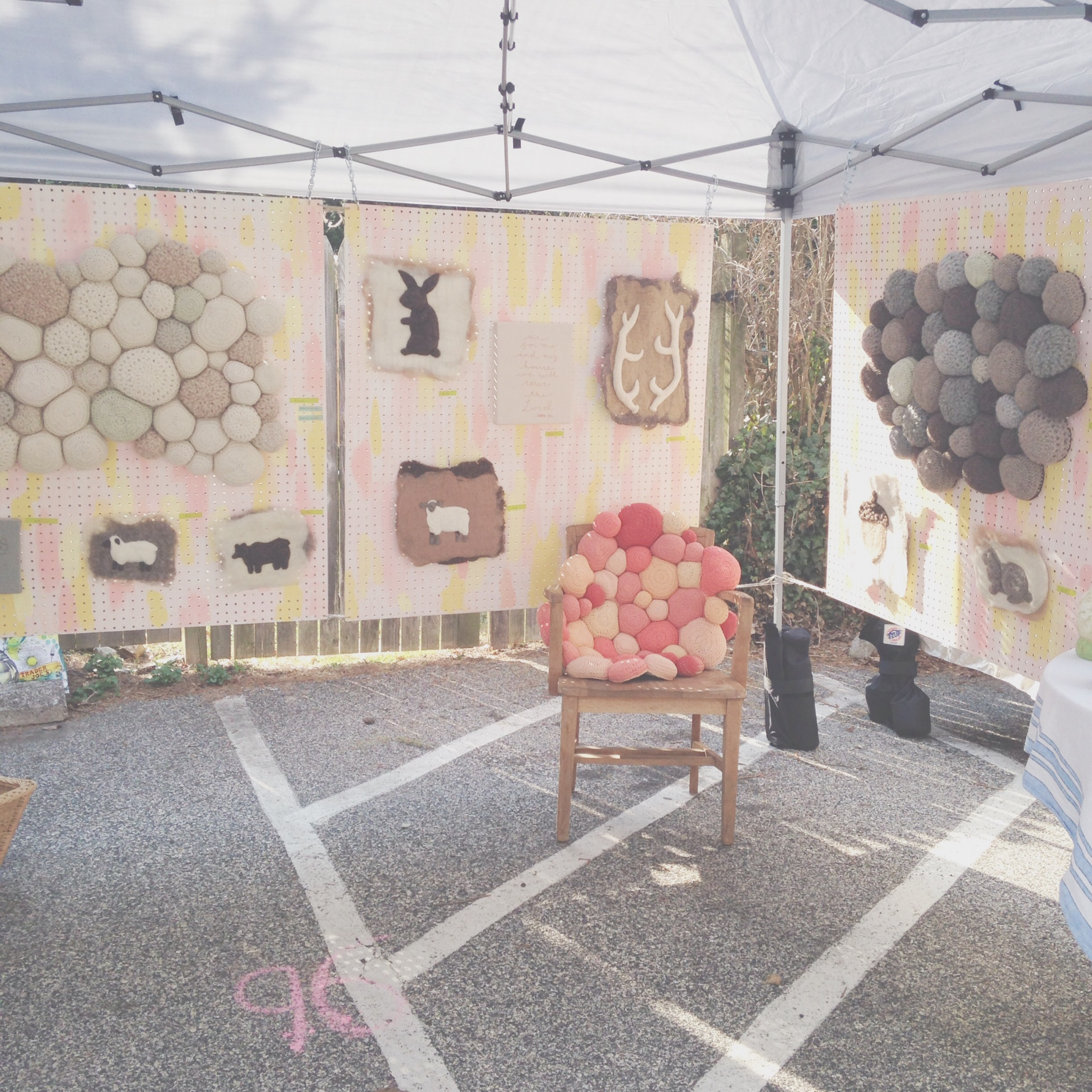 Ernie and Irene's booth at Clover Market Chestnut Hill 2014