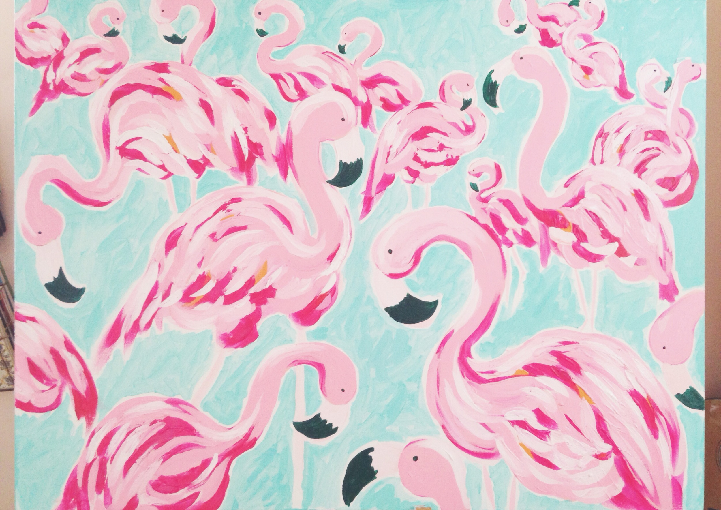 Flamingo Custom Canvas
