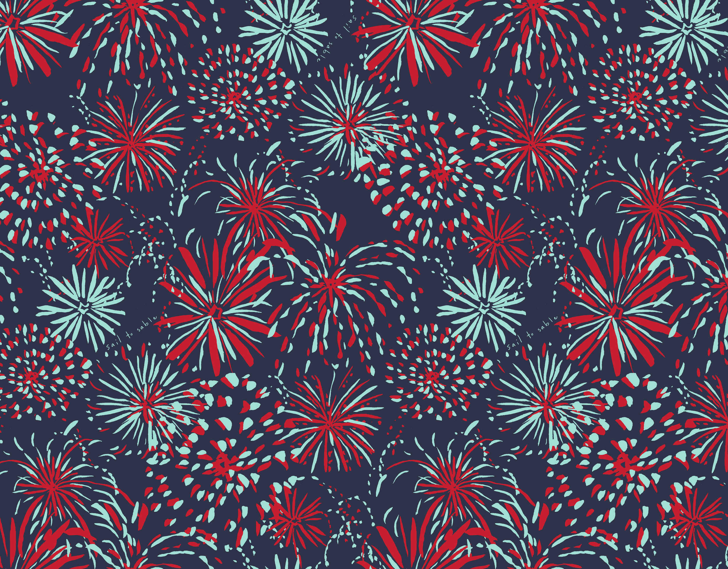 Sail to Sable S16 Fireworks Print