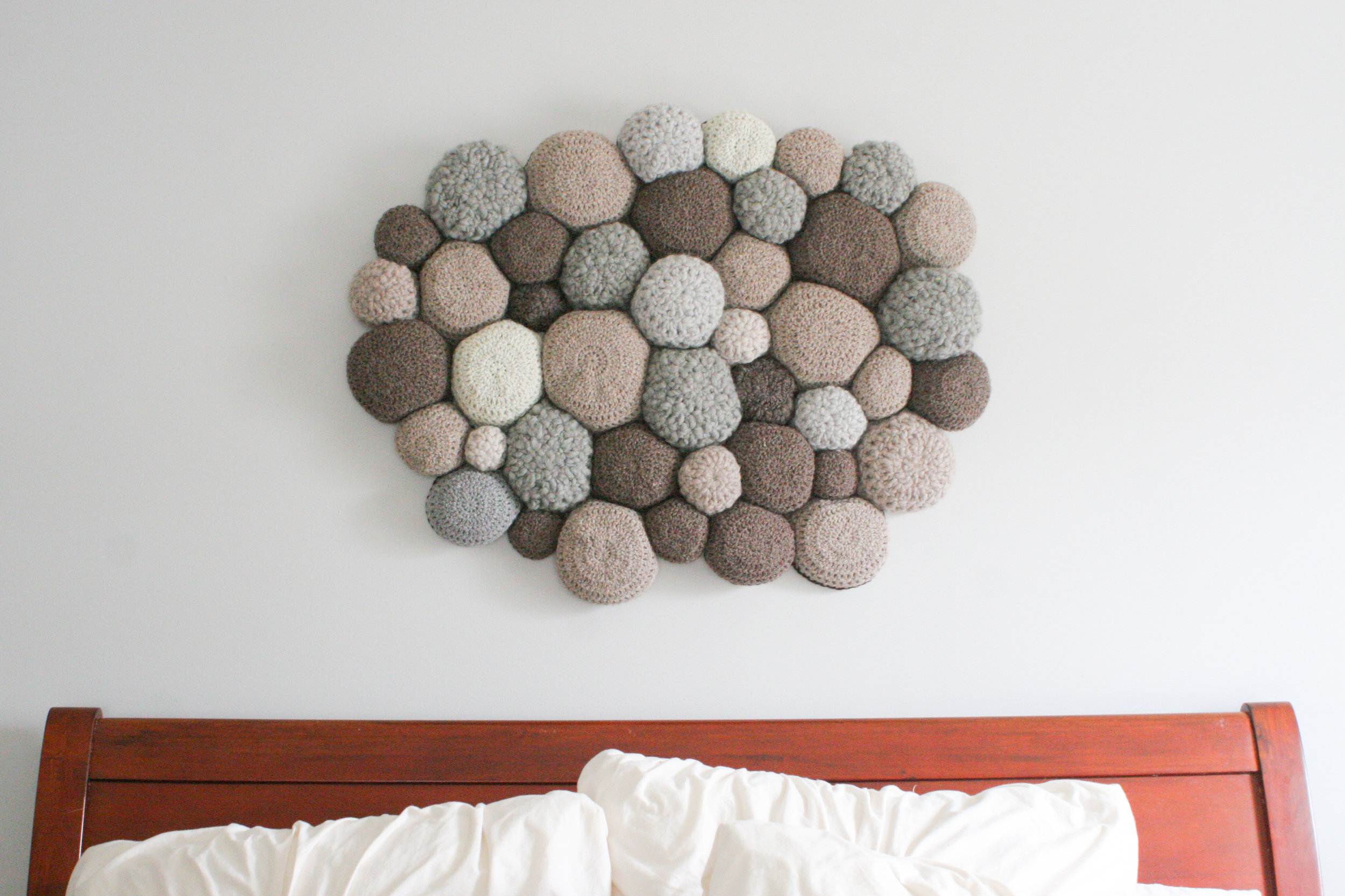 Sustainable Sheepskin as Headboard decor