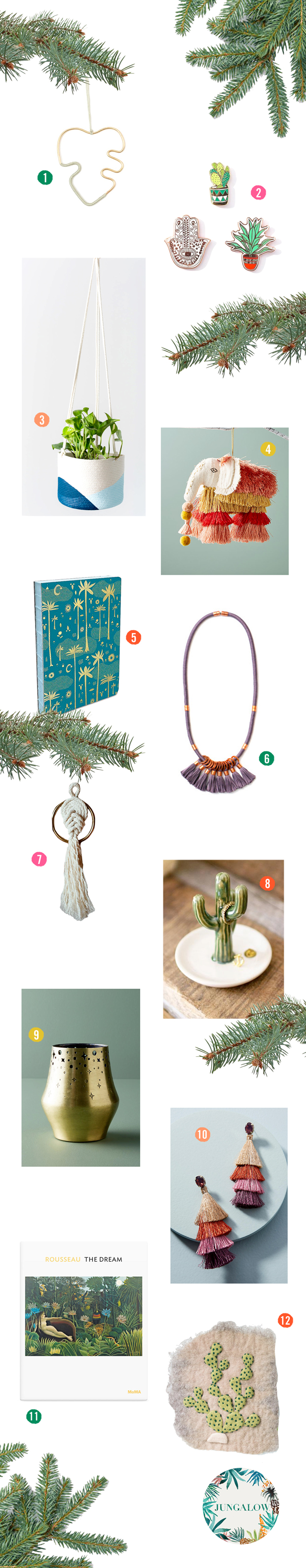 "The Jungalow ""'Tis The Season Gift Guide"" 2017"