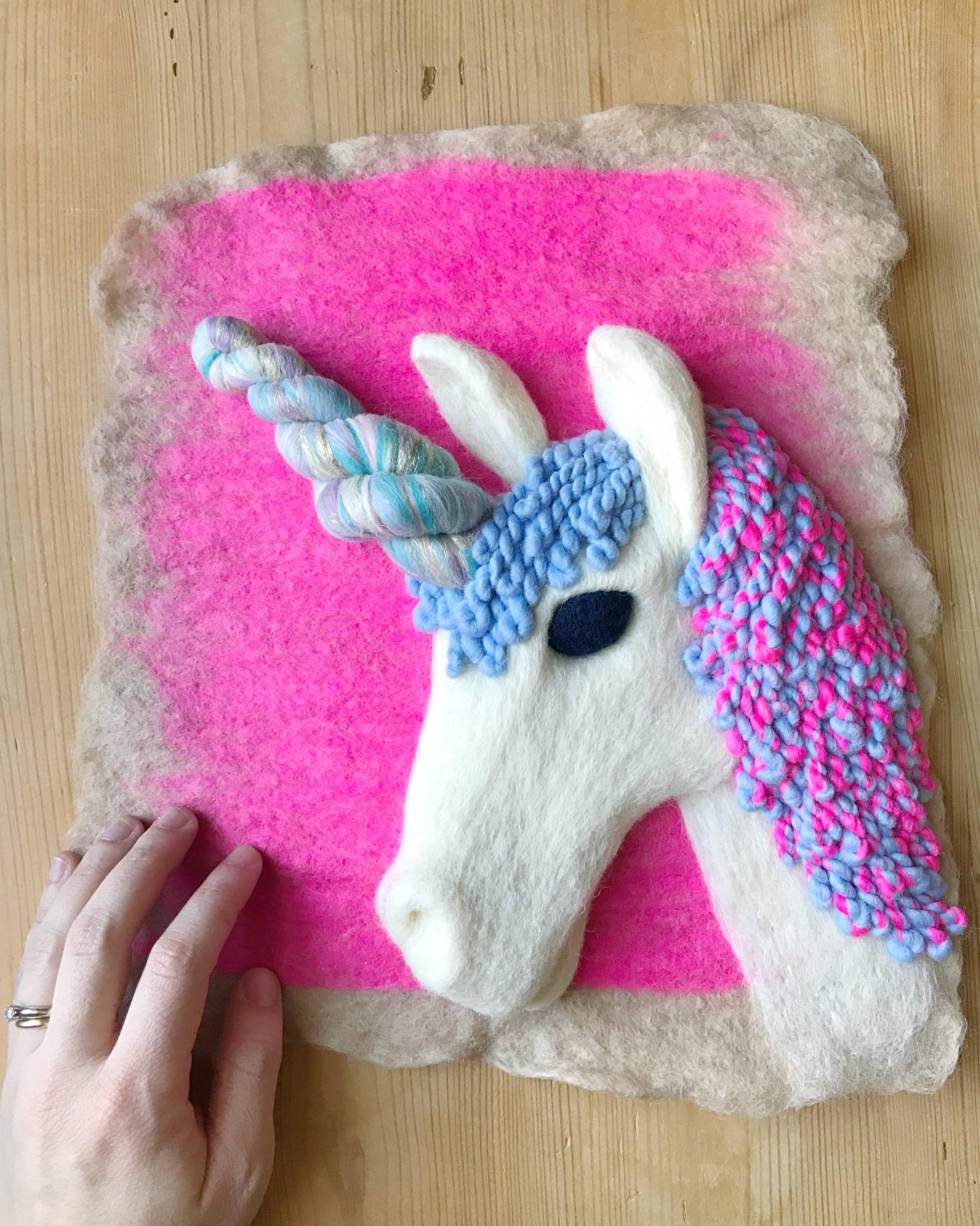 Custom Bright Pink Unicorn
