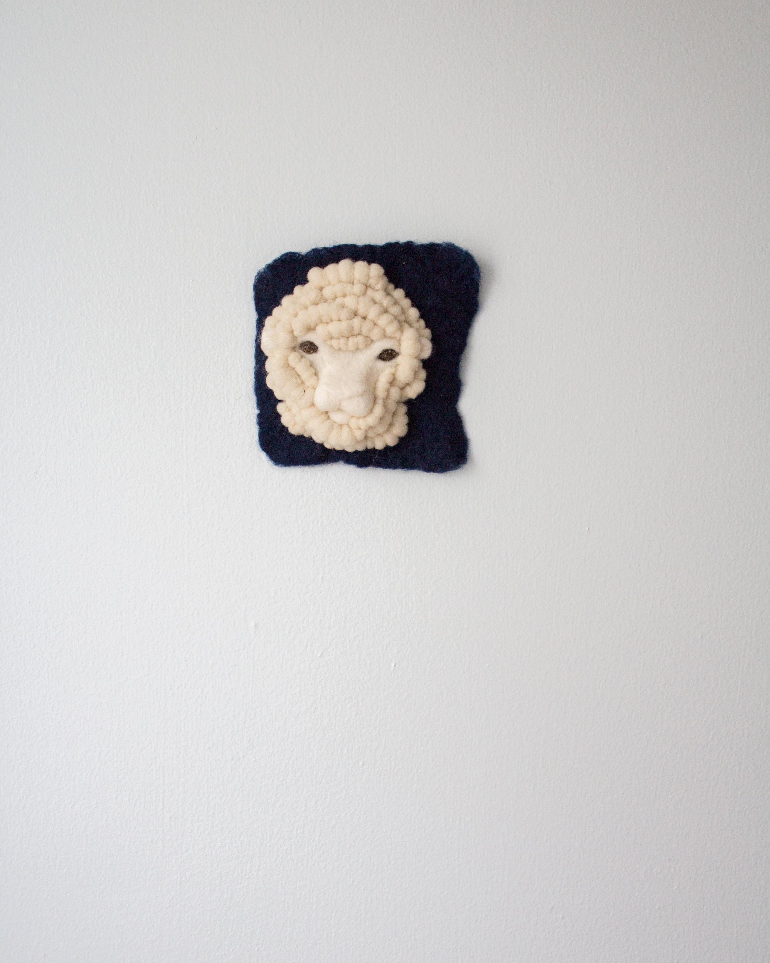 Tiny Indigo Merino Sheep 1
